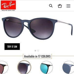 Erika Ray-Ban Light Blue Matte Sunglasses